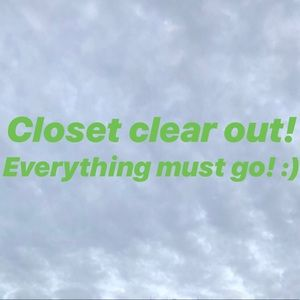 Other - Help me clean out my closet!